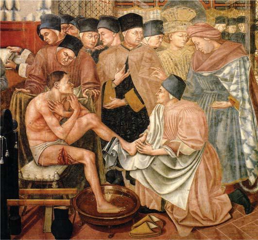 Domenico di Bartolo - Cura e governo degli infermi (particolare).