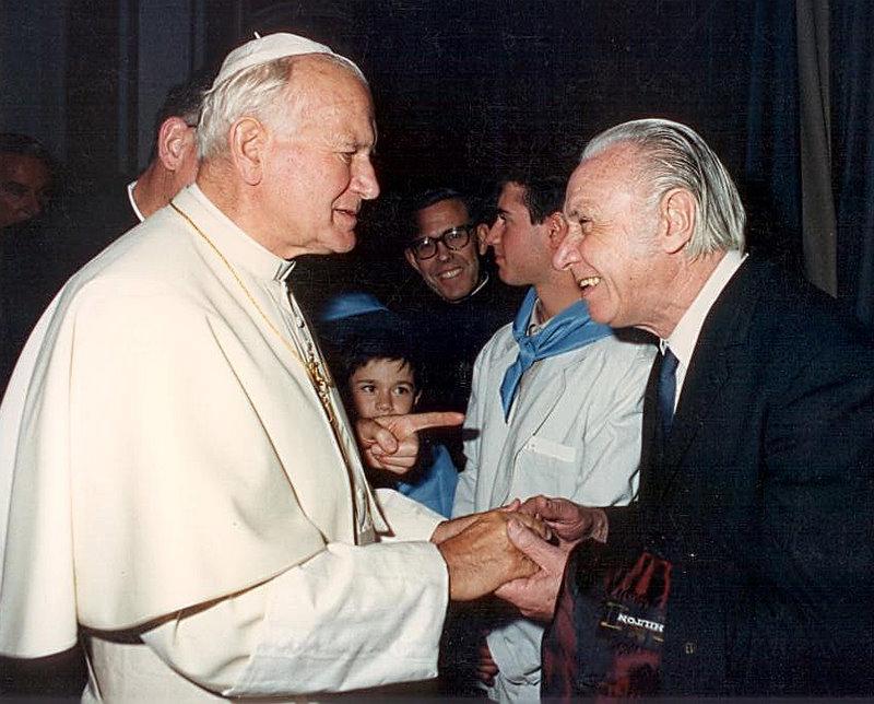 Michelini con Giovanni Paolo II