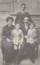 Pampuri Erminio con il fratello, la cognata e due nipoti - Foto del nipote Virginio Pampuri